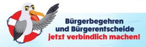 Banner Bürgerbegehren